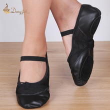 Full grain leather Professional Ballet Shoes Slippers Women Genuine Leather Zapatillas Ballet Full Split Sole Ballet Dance Shoe