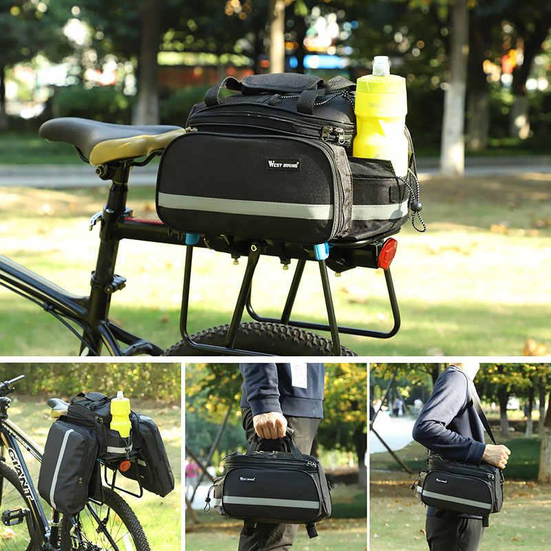 Западные велосипедные сумки большой емкости водонепроницаемая велосипедная сумка горный велосипед седло багажник сумки багаж сумка для велосипеда