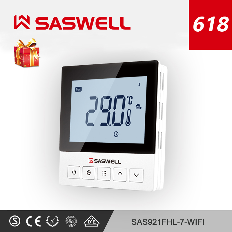 Saswell Wifi Thermostat Temperature Controller For Underfloor Heating Thermostat/Thermostat Wifi Intelligent Thermoregulator