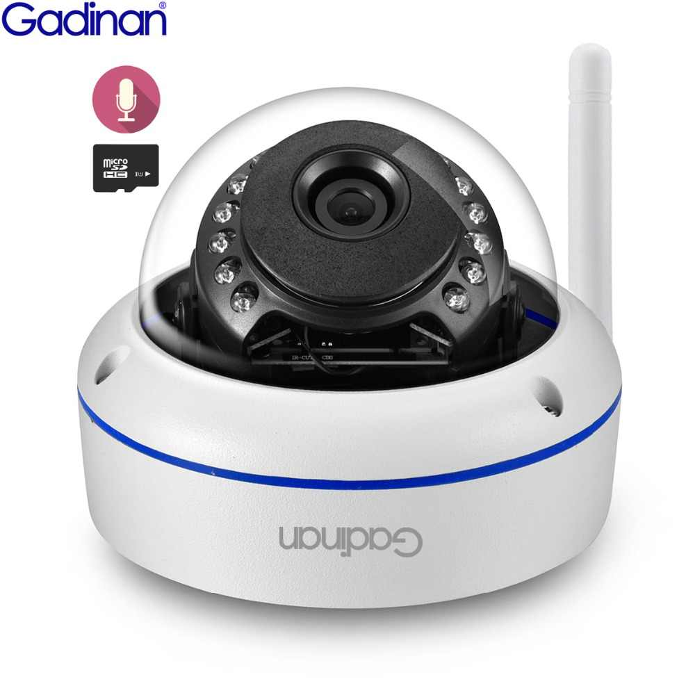 GADINAN Wifi Camera Yoosee APP ONVIF IP Camera 2MP 1080P 720P Microphone Audio Night Vision Vandal-proof SD Card Outdoor Camera