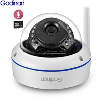 GADINAN Wifi Camera Yoosee APP ONVIF IP Camera 2MP 1080P 720P Microphone Audio Night Vision Vandal proof SD Card Outdoor Camera