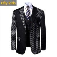 baby boy clothes set boys suit wedding dress formal costume school uniform blazer waistcoat pants 3 pcs suits boy party dress