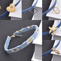 Trendy Bohemian Jeans Choker Necklace for Women Heart Smile Face Starfish Pendant Chain Jewelry