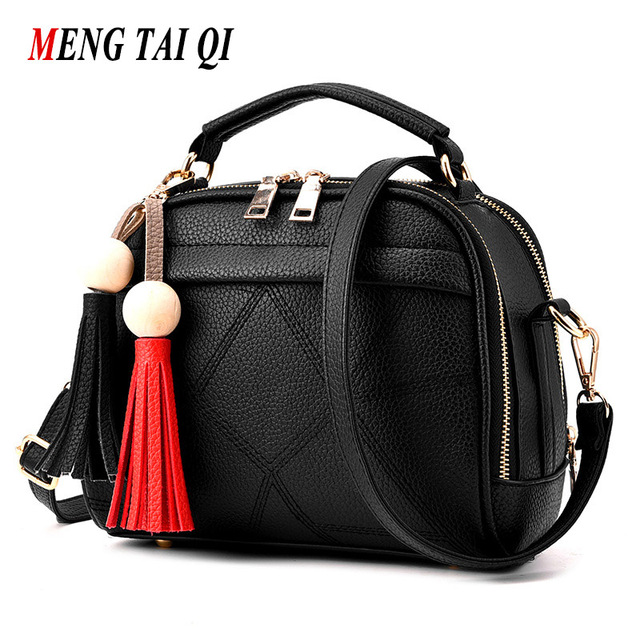 Women Messenger Bags Bolsas Women Bag 2016 Handbag Luxury Brand Woman Handbags Leather Black Shoulder Bags Ladies Sac A Main 3