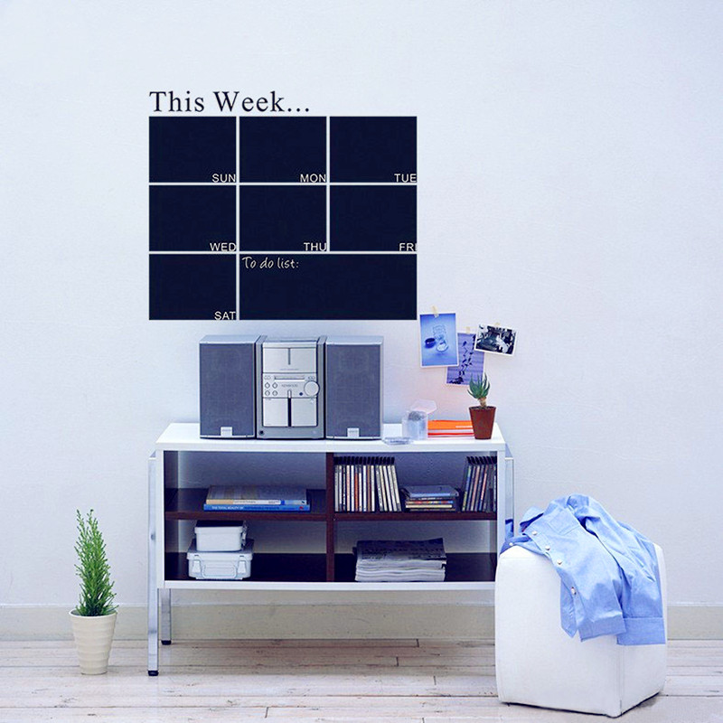 Weekly Planner Chalkboard Wall Decal for <font><b>Office</b></font> Room - Week Calendar - High Quality Chalkboard <font><b>Sticker</b></font> Home Decor Wall Art Mural