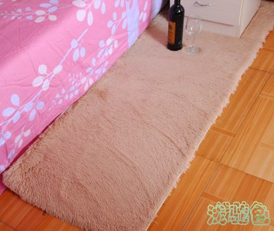 Modern Silk Wool Carpet Size 50*160cm Bedroom Bed Floor Mats ...