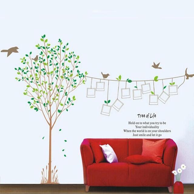 DIY 2 unids caliente memoria foto Marcos árbol verde mosca pájaro ...