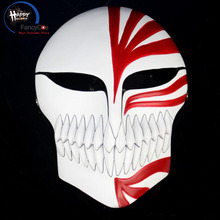 Cosplay Helmet Mask-Props Costume Bleach-Mask Party Halloween Resin Kurosaki Red Gifts