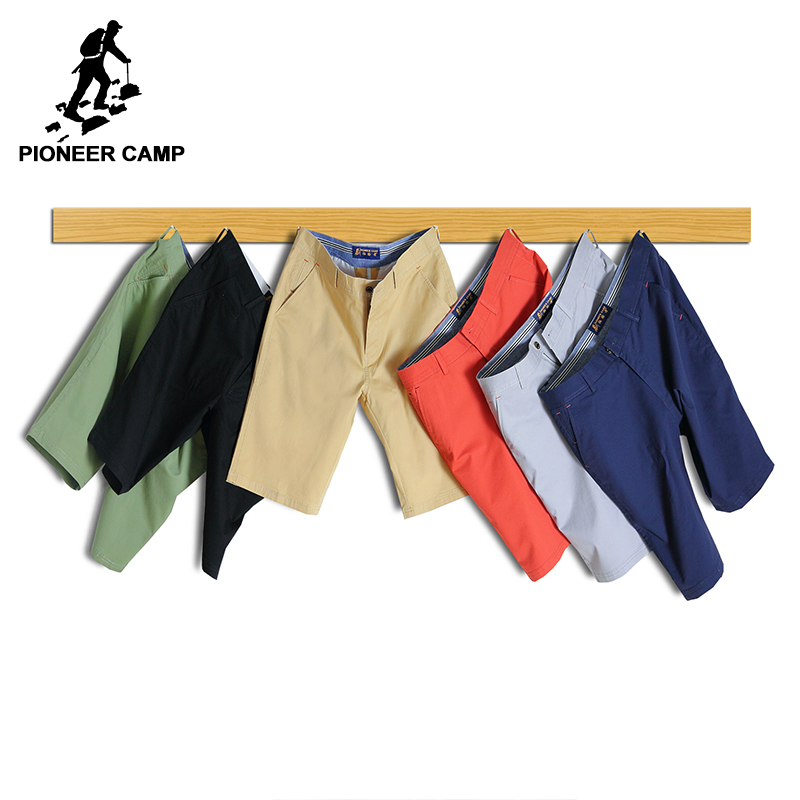 Pioneer Camp Casual Shorts Men brand clothing summer Breathable Shorts male top quality stretch straight solid shorts 655117