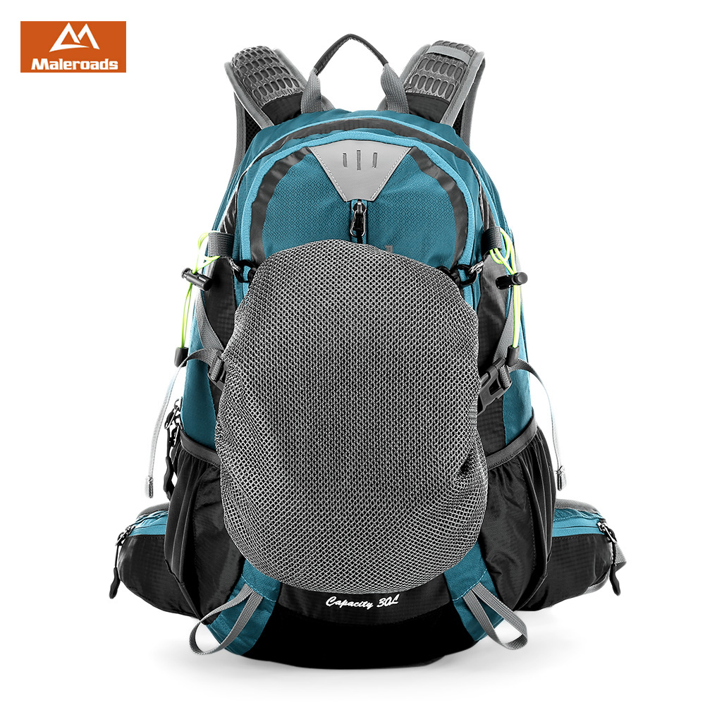 Maleroads 30L Water Resistant Outdoor Bag Hiking Camping Bags Backpack Bags Sports Nylon Travel Luggage Bike Rucksack Bag maleroads 40l water resistant nylon outdoor bag hiking camping backpack bags sports backpack bike rucksack bag