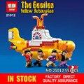 Lepin 21012 Los Beatles John Winston Lennon Paul McCartney Harrison Yellow Submarine Ringo Star Pequeña Figura De Juguete Bloques de Construcción