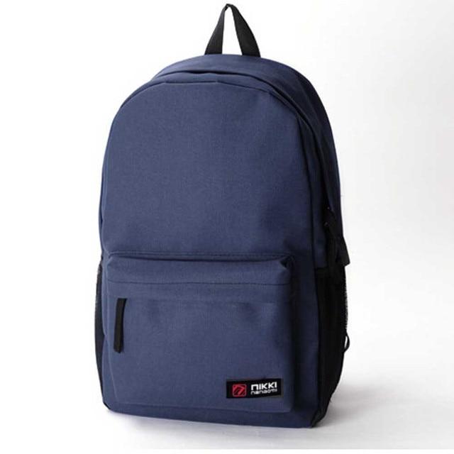 Classic Canvas Unisex Backpack Double Shoulder Zipper Rucksack Teens Travel  Carrier Man Woman Cloth SatchelBack Packs 5d61cdee1a718
