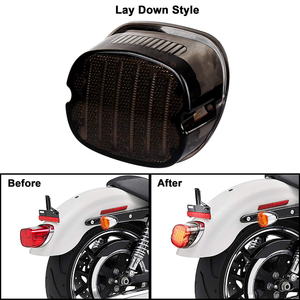 Image 2 - LED Taillight with Braking Turn Signal 1 pcs Replacement Tail Light for Harley Dyna Road King Electra Glide Street Bob Touring