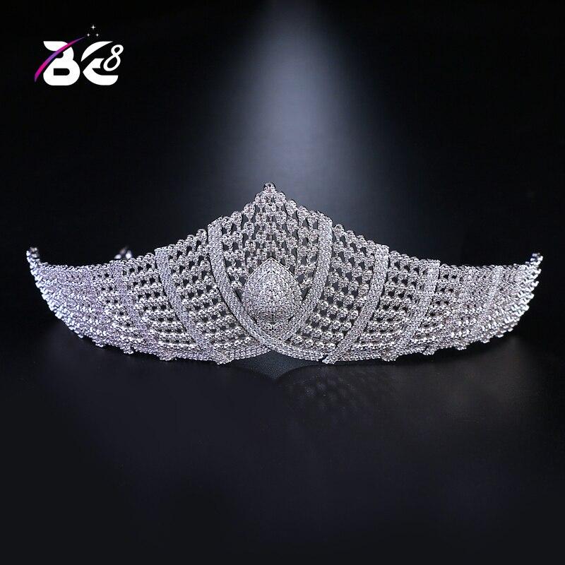 Be 8 luxe mode cristal diadème strass mariée diadèmes couronnes pour les femmes robe de mariée accessoires de cheveux H068
