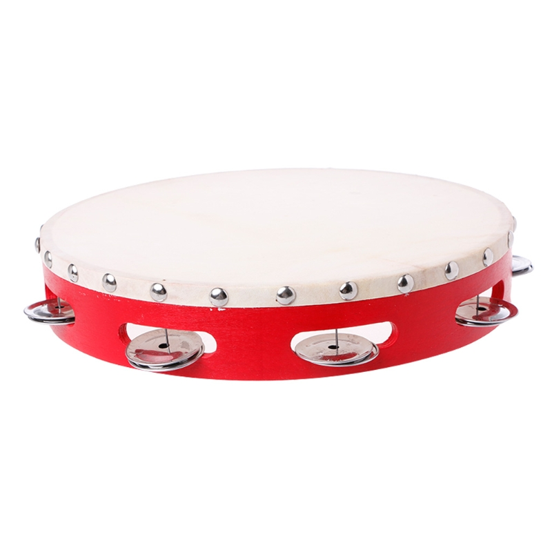 Tambourine Drum Hand Held Bell Percussion Tambourines Bells Jingles Musical Toy Musical Instruments Sports & Entertainment