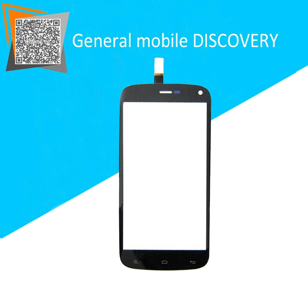 4.7 Black for General mobile DISCOVERY Touch Screen Digitizer Sensors Outer Glass Replacement Parts Free Tracking new original 5 for cubot p6 touch digitizer sensors outer glass black replacement parts free tracking for cubot p6 lcd touch