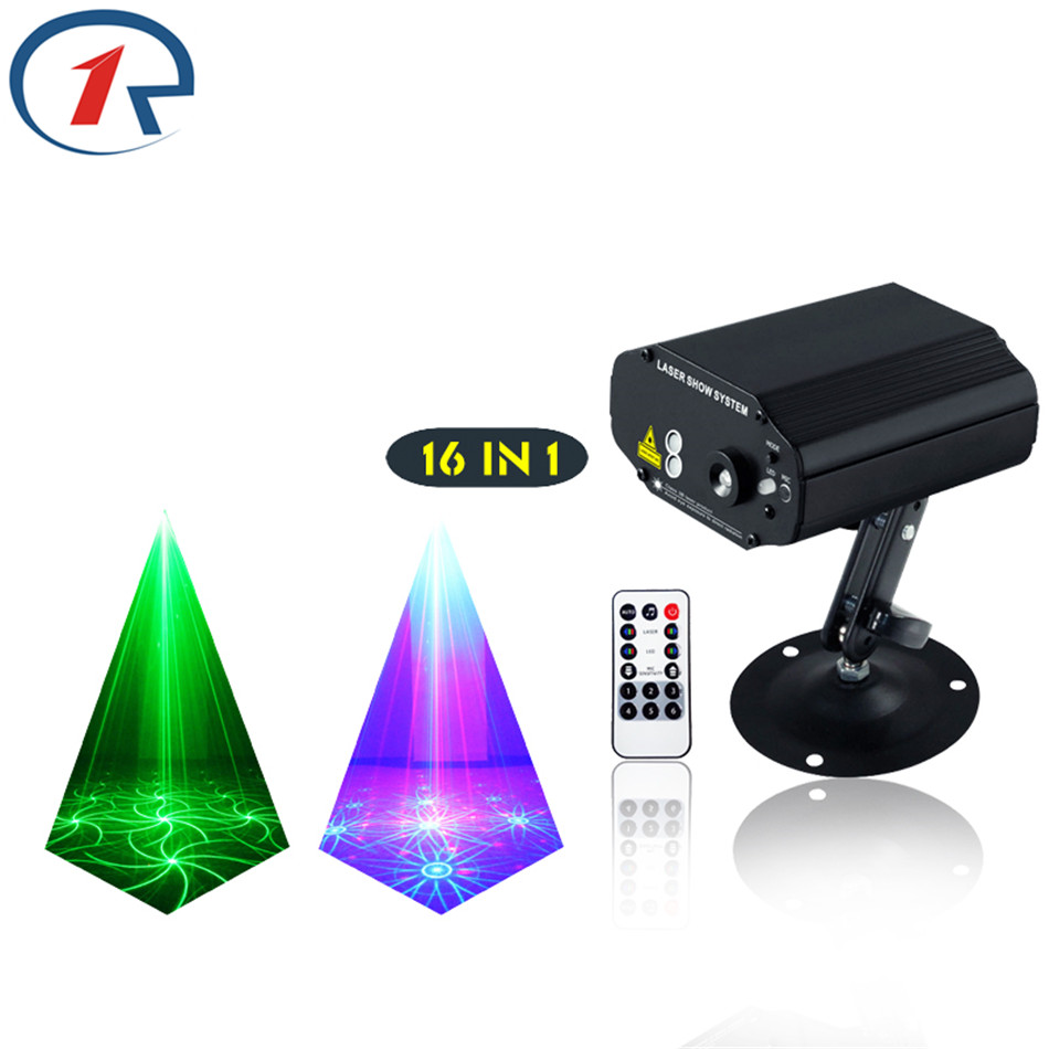 ZjRight 16Patterns IR Remote Red Green Laser Light Mix Blue effect LED Stage Light colorful effect disco bar light ktv dj lights original projector lamp dt01251 for hitachi bz 1 cp a220n cp a221n cp a221nm cp a222nm cp a222wn cp a250nl