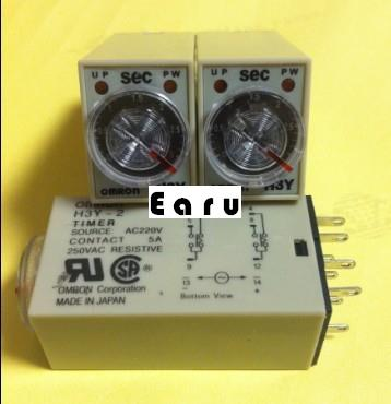 H3Y-4 H3Y-2 super time relay AC220V DC24V DC12V ST6P genuine taiwan research anv time relay ah2 yb ac220v