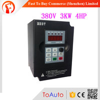 CNC Spindle Motor Speed Control Variable Frequency Drive 3KW 3PH 380V 4HP VFD Inverter for Wood Working Machine