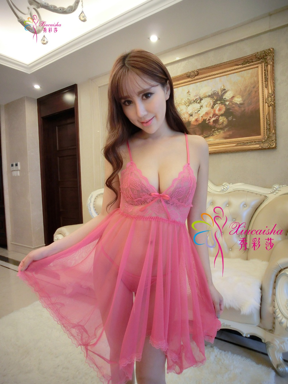 Sexy Lingerie Pajamas Explosion models Women Appeal Sleep group Dress Including thong Sexy Underwear 2017 New