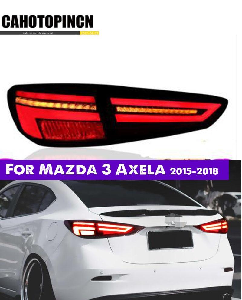 Car Styling Taillight Tail Lights For Mazda 3 Mazda3 Axela 2017 2018 Rear Lamp Drl Turn Signal Brake Reverse Led