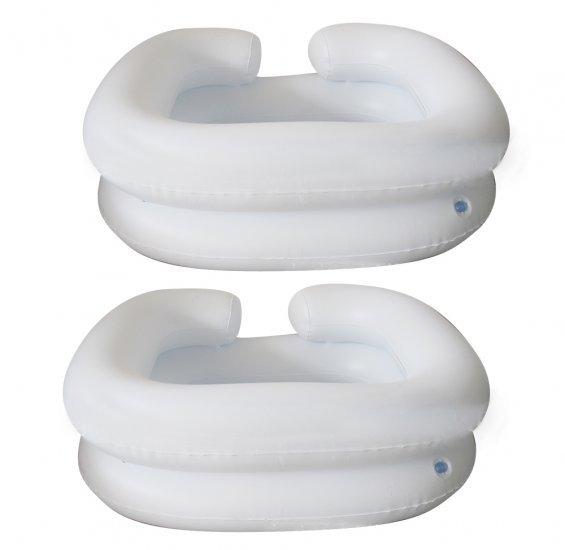 Cuidados de saúde de Cuidados Médicos 2017 New Arrival Deluxe Inflável Cama Shampooer Bacia, branco Fit para o Paciente