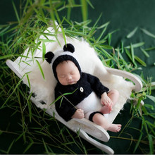 Newborn Photography Prop Posing Bed Chair Accessoire Bebe Photo Creative Assembled Wood Rocking Props for Shooting