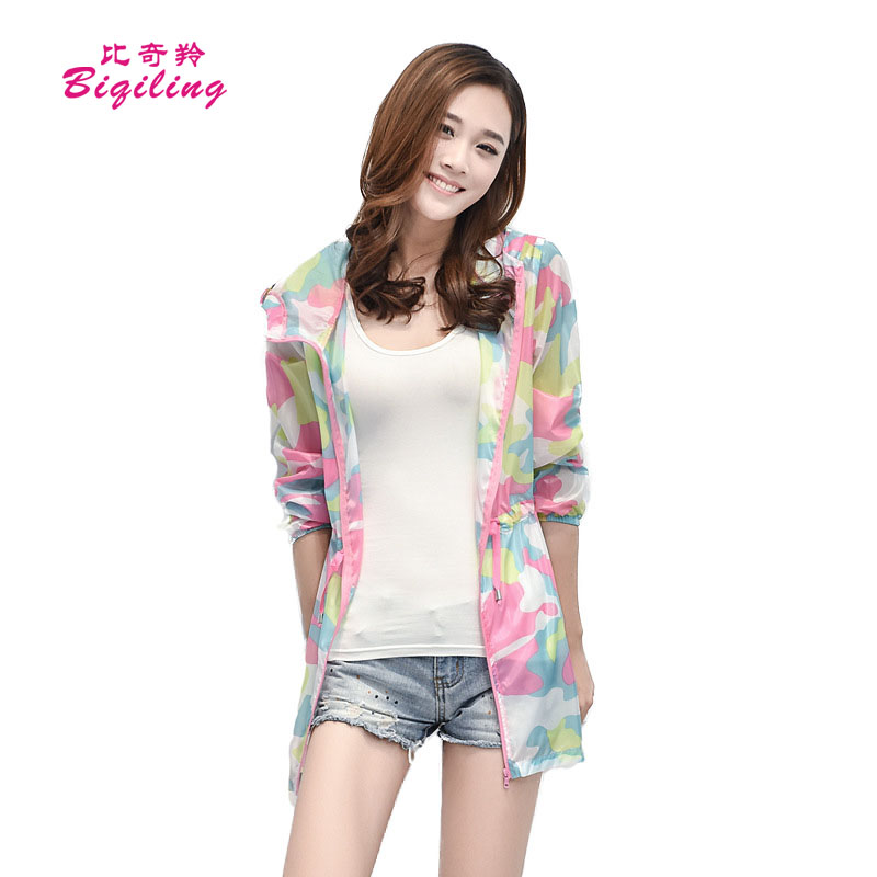 Biqiling Summer Sun Protection font b Jacket b font Long Sleeved Transparent Coat font b Women