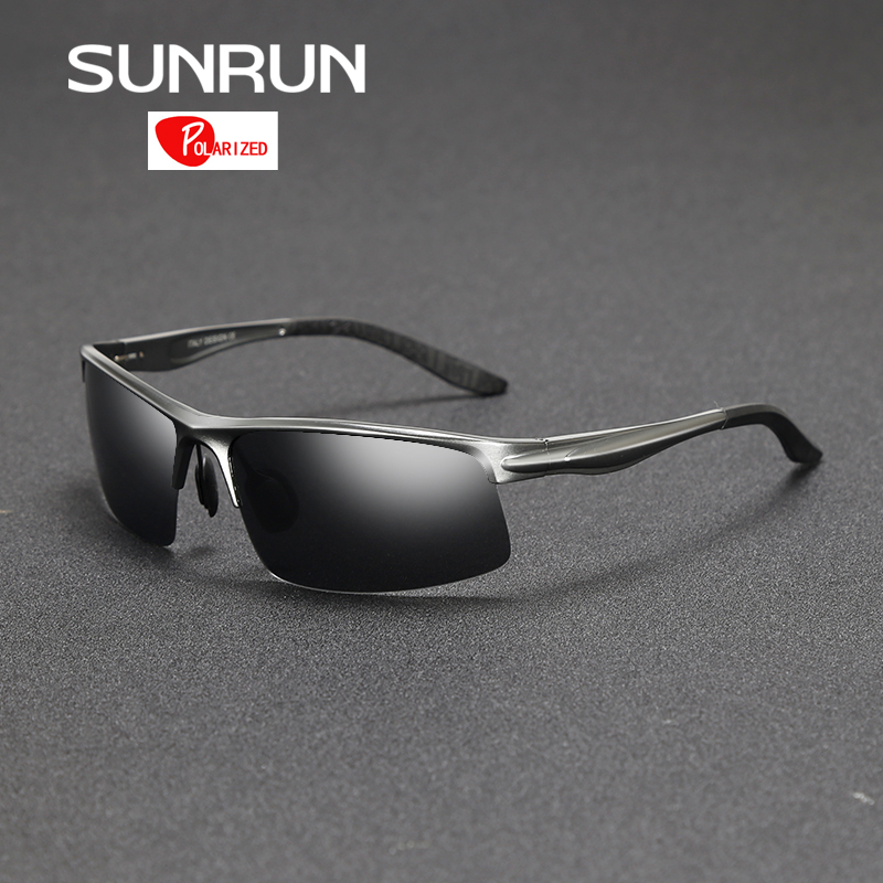 7b13a223d5f04 SUNRUN Aluminum Magnesium Men Polarized Sunglasses Mirror Sun Glasses  Driving Goggles Eyewear for Male oculos 8580