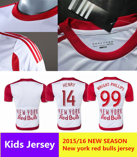 76632be238 2015 2016 new york red bulls home jersey White henry red bulls jersey 2016  New York Football Shirt Camiseta Futbol Maillot
