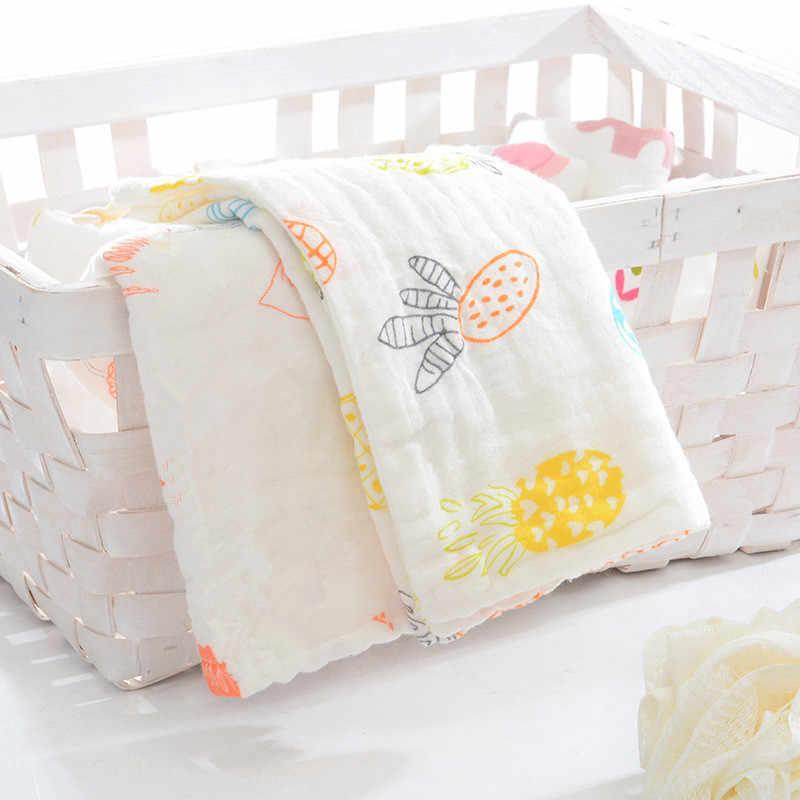 5 piezas 6 capas de alta densidad 100% algodón una clase muselina gasa paño bebé pañuelo cara toalla toalla de Saliva para bebé 25x50cm