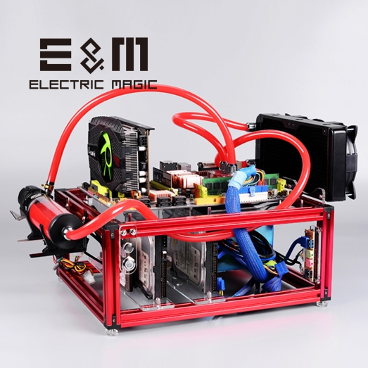 Open Frame Test Bench DIY Mod PC Case ATX Motherboard Water Cooling Overlcok Computer PCI Hard Disk Fan Position Standard Power
