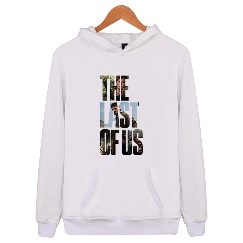 The Last Of Us Fashion Men's Oversized Hoodies Plus Size Street White Black Striped Loose Hoody Long Sleeve Men/womne E4547