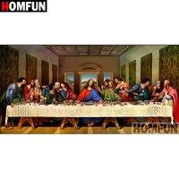 HOMFUN-cuadro religioso elaborado con diamantes de imitación, 5D, punto de cruz, regalo, decoración del hogar, A08065