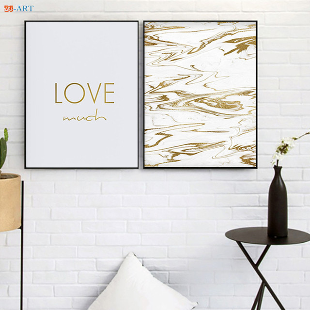 Live Laugh Love Prints Gold Letter Poster S Room Decor Marble Wall Art Home Office