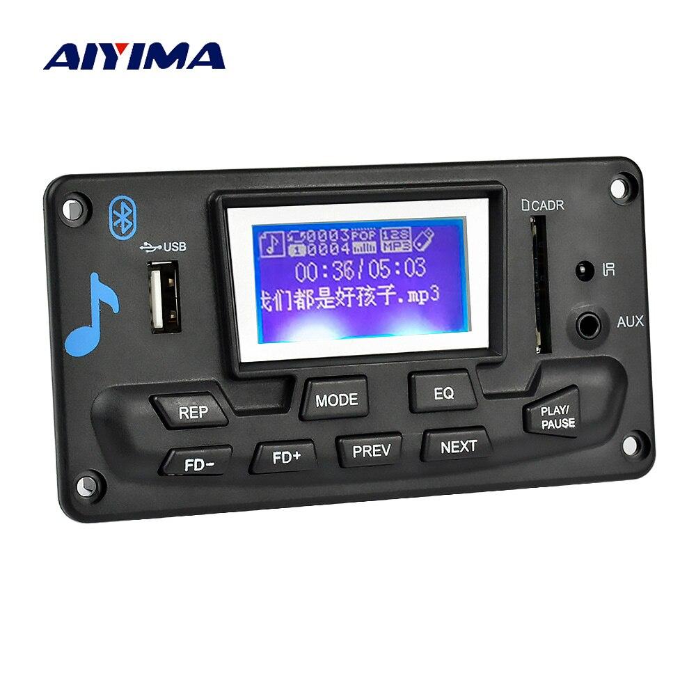Aiyima 12 v LCD Bluetooth MP3 Scheda di Decodifica WAV WMA Decodifica MP3 Lettore Audio di Supporto del Modulo Radio FM AUX USB con Testi di Visualizzazione