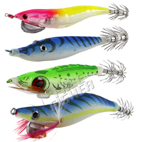 24Pcs/lot Fishing Squids Jigs Shrimp Hard Lures Octopus Cuttlefish Artificial Sharp Squid Hooks Fishing Tackle Pesca
