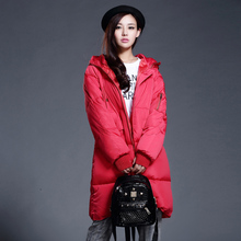 Корейский Стиль Новая Мода Женщины Пальто Тонкий Большой ярдов С Капюшоном Толстый Теплый Хлопок пуховик Пары Досуг Длинное Пальто G0355