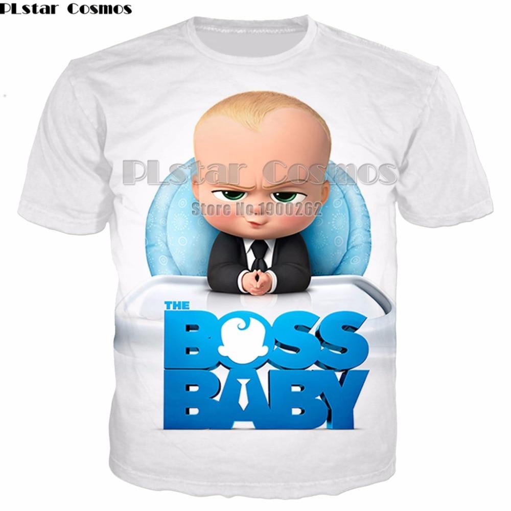 PLstar Cosmos Boss Baby Cute cartoon style T Shirts Men Women 3D Full Print Funny T-shirt Plus size S-5XL