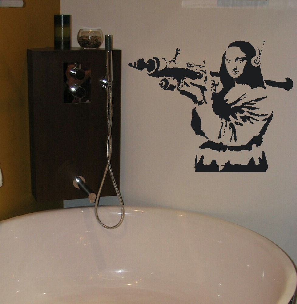 aliexpress com buy large banksy wall sticker mona lisa bazooka aliexpress com buy large banksy wall sticker mona lisa bazooka art transfer funny wall sticker room sticker from reliable sticker suppliers on abcdef