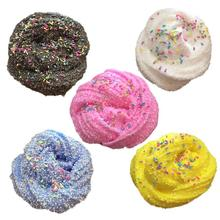 Snow Flake Foam Chocolate DIY Slime Clay Fluffy Floam Slime Scented Stress Relief Kids Toy Cotton