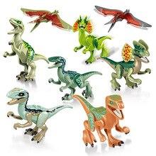 Jurassic World Dinosaur Tyrannosaurus Rex Indoraptor Velociraptor Pterosauria Building Blocks Bricks Compatible Lego