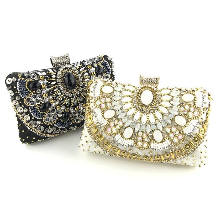 e5971fe7b171 Новый шаблон Дамы Золото вечерняя сумка-клатч со стразами мешок стразами  свадебные клатчи кошелек Для