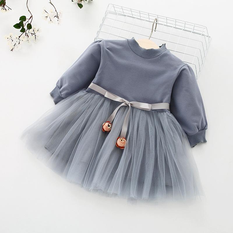 HTB1tfxaoJzJ8KJjSspkq6zF7VXah - Fashion stitching Baby Girl Dress Long sleeve spring Dresses for 0-24 month Girls Clothes Vestido Infantil Newborn Baby Clothing
