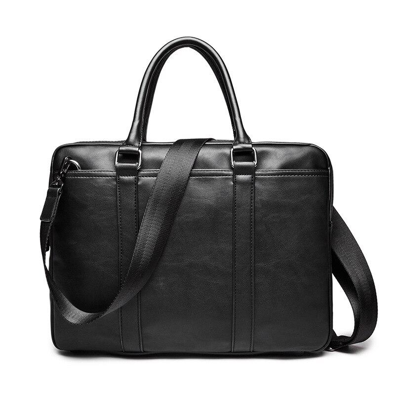 Simple Famous Brand Business Men Briefcase Crossbody Bag Handbag Luxury Leather Laptop Travel Bag Man Shoulder Bags Bolsa Maleta