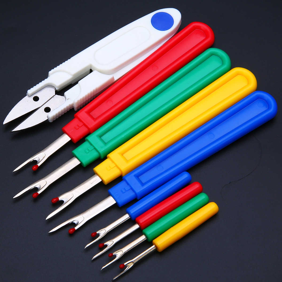 9pcs Seam Ripper Stitch Unpicker With Plastic Handle Thread Cutter DIY Sewing Remover Combination Cross Embroidery Tools