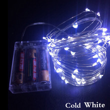 10M 100 LED battery waterproof led copper wire string lights christmas wedding decoration garland strip warm white/cold white