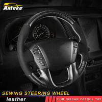 ANTEKE Auto Car styling sewing steering wheel cover trim Stickers Covers Interior Accessories For Nissan Patrol Y62