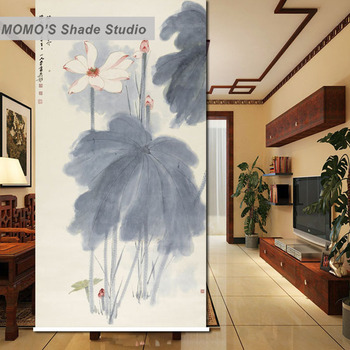 MOMO Blackout Lotus Fish Window Curtains Roller Shades Blinds Thermal Insulated Fabric Custom Size, Alice 442