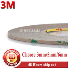 1x3mm (ou 5mm/6mm)* 50 m 3m amplamente usando para fita adesiva dupla forte da ligação 200mp da tira do diodo emissor de luz, a alta temperatura resiste à prova dwaterproof água